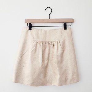 J. Crew Gold Silk Skirt Size 0